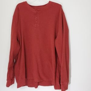 Faded Glory Red Thermal Shirt Size 3XL